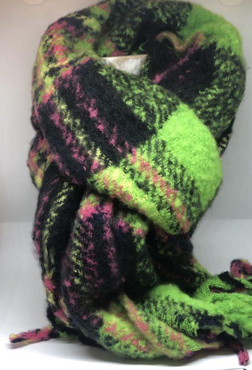 Bufanda fosforito verde