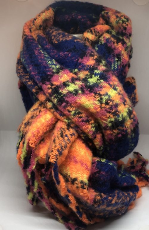 Bufanda fosforito naranja