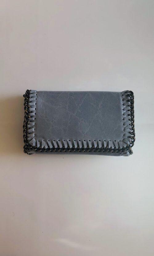Bolso rectangular cadena azul