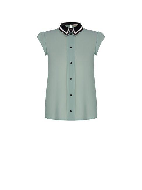 blusa cuello lentejuelas
