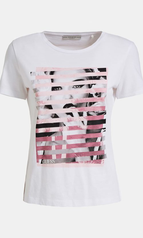 camiseta guess estampado central