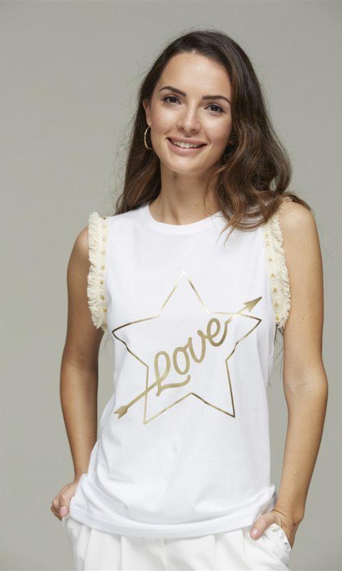 camiseta love estrella