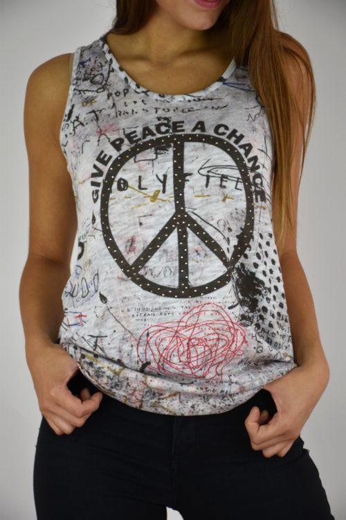 camiseta pura vida peace