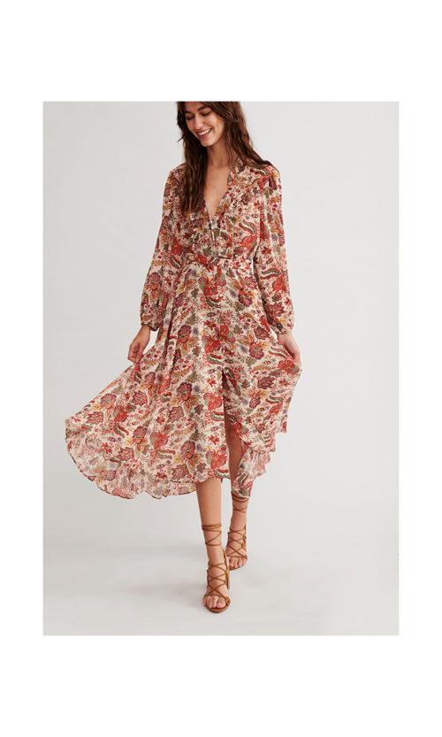vestido-largo-estampado-floral-y-botones
