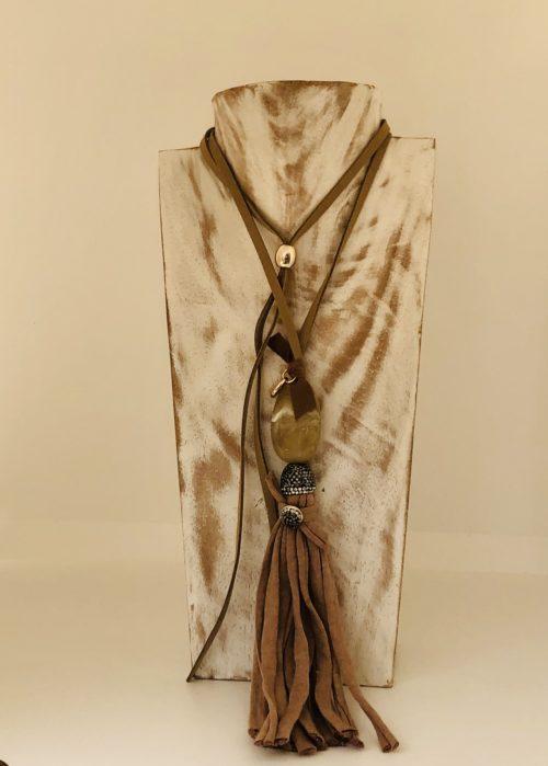 Collar venecia Pepori crudo