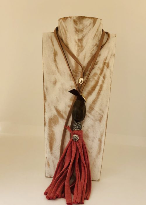 Collar venecia Pepori rosa
