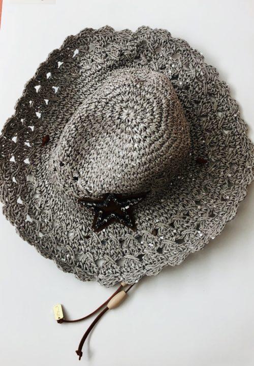 Sombrero estrella pepori gris