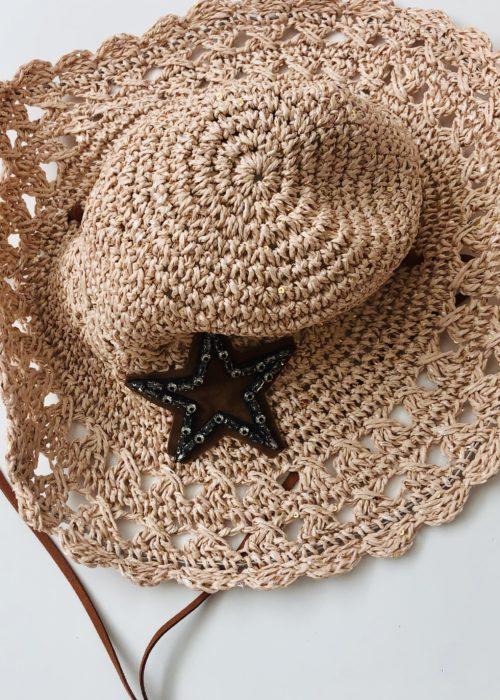 sombrero estrella pepori rosa