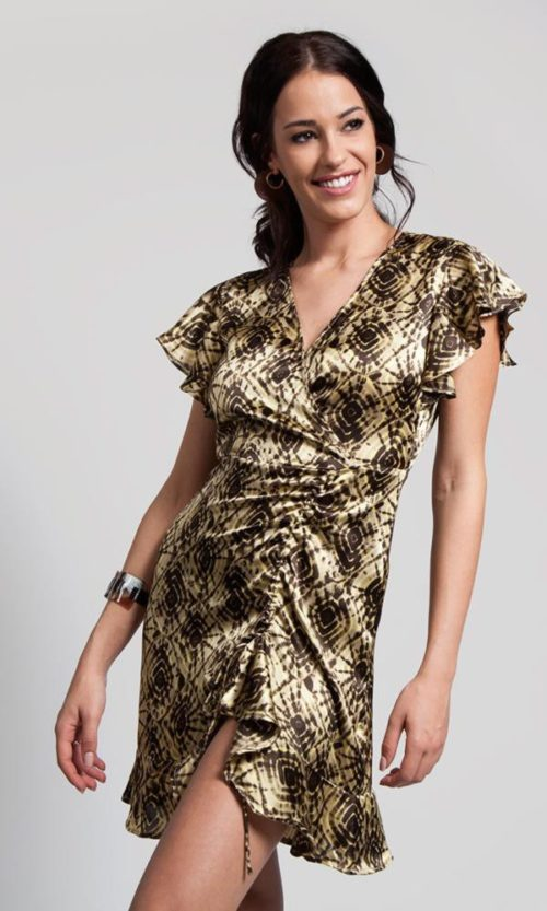 vestido corto satén