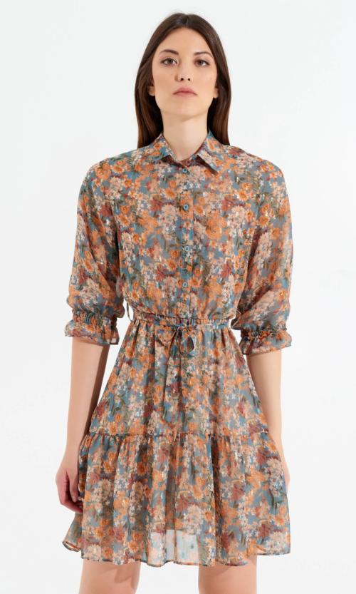 vestido flores rinasmiento moda mujer