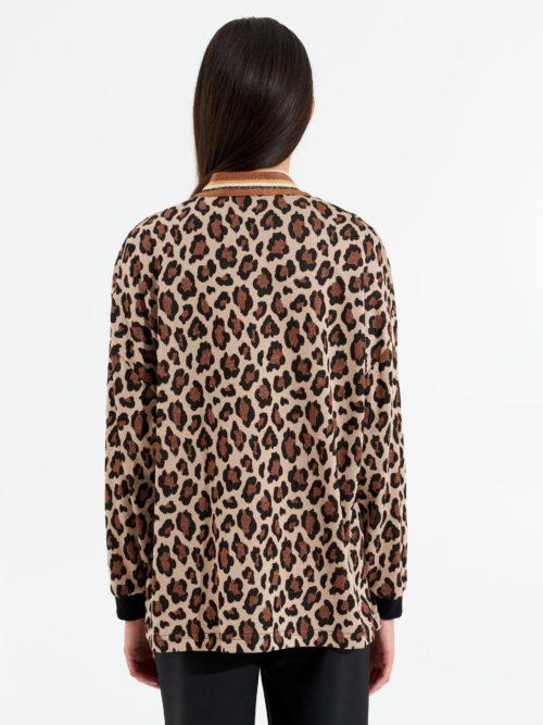 chaqueta print animal