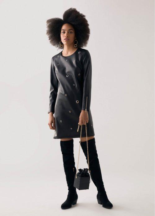 vestido-covestido con detalles decorativosn-detalles-decorativos-negro-12165001