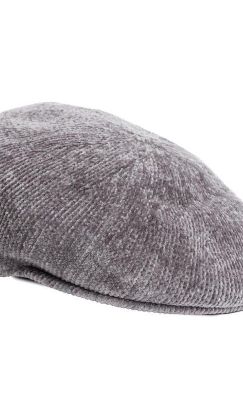 Boina chenilla gris