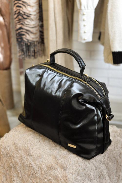 bolso textura suave negro