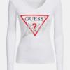 camiseta guess blanca manga larga