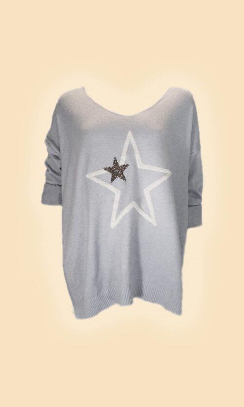 jersey estrella azul moda mujer