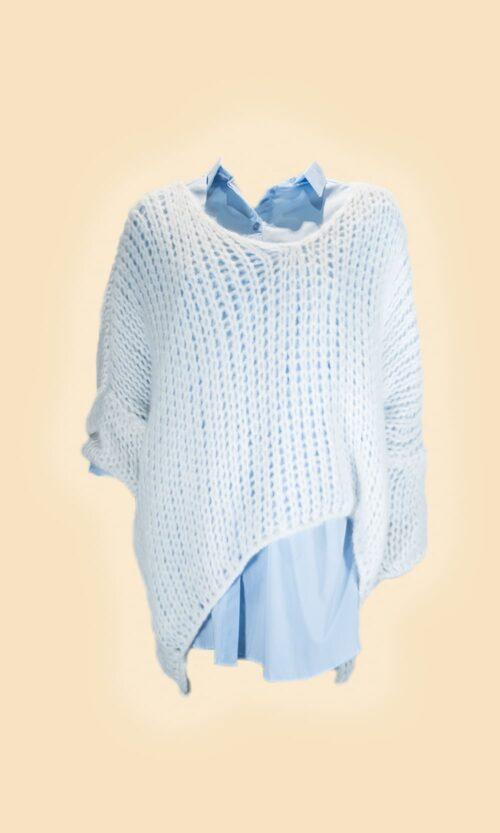 jersey calado blanco moda mujer