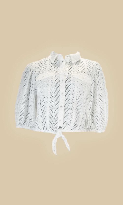 moda mujer camisa guess
