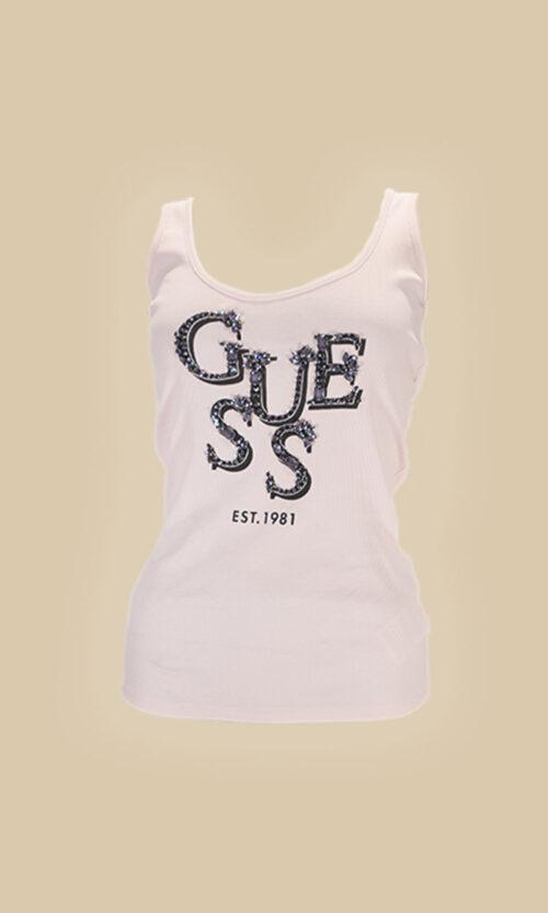camiseta guess tirantes letras moda mujer
