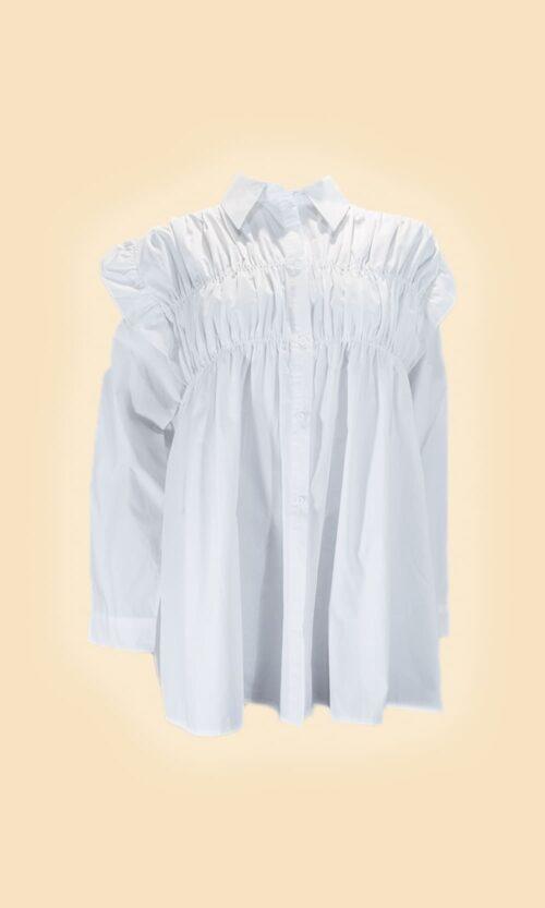 sao camisa fruncida moda mujer