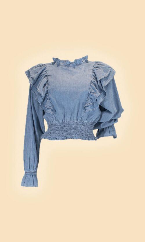 sao camisa volantes moda mujer
