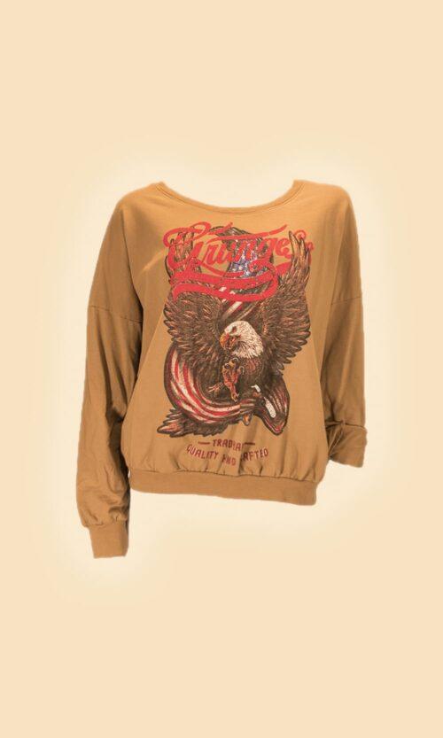 sao camiseta aguila moda mujer