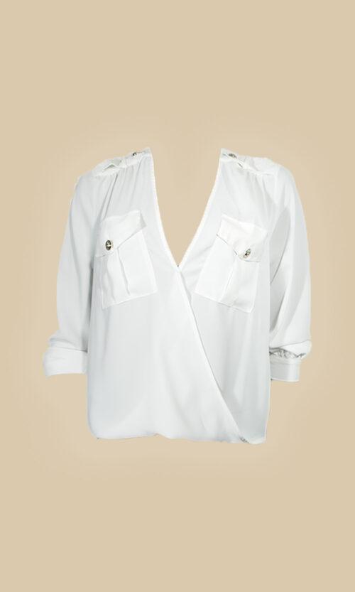 moda mujer camisa rinacimento