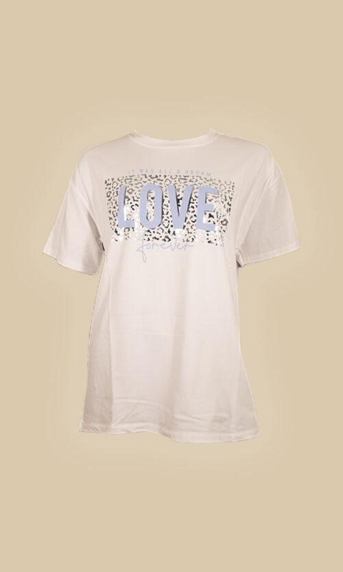 moda mujer camiseta love