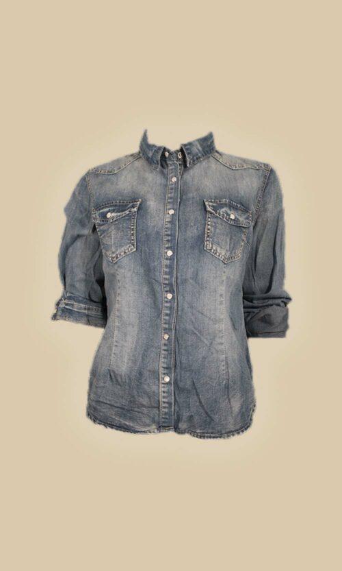 moda mujer camisa tejana