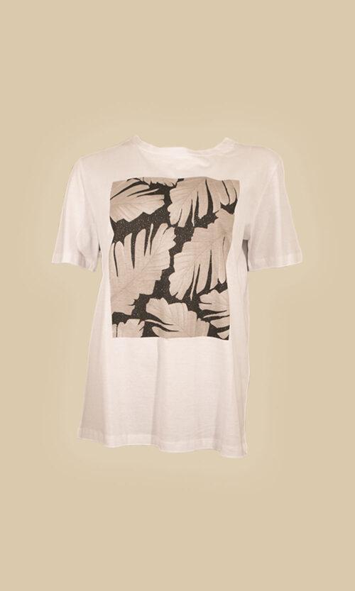 camiseta manga corta print moda mujer