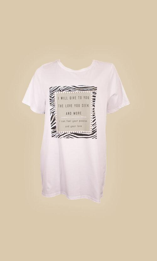 moda mujer camiseta serpiente gris