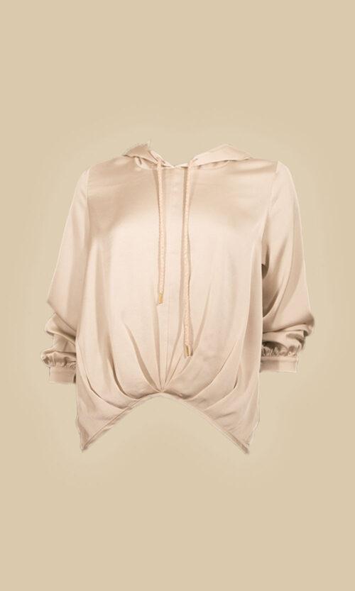 camisa capucha moda mujer