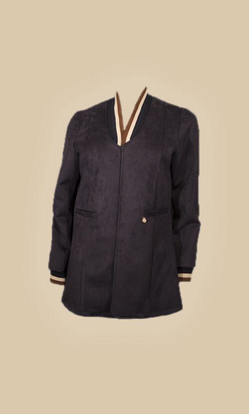 chaqueta bicolor moda mujer