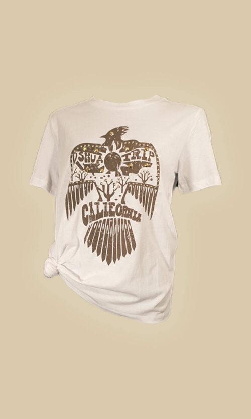 camiseta manga corta aguila moda mujer