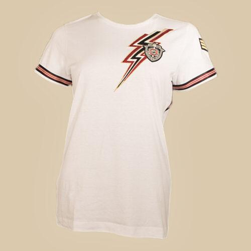 camiseta bordado rayo moda mujer