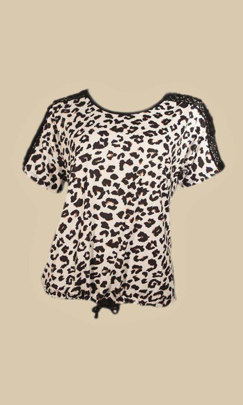 camiseta coll print moda mujer