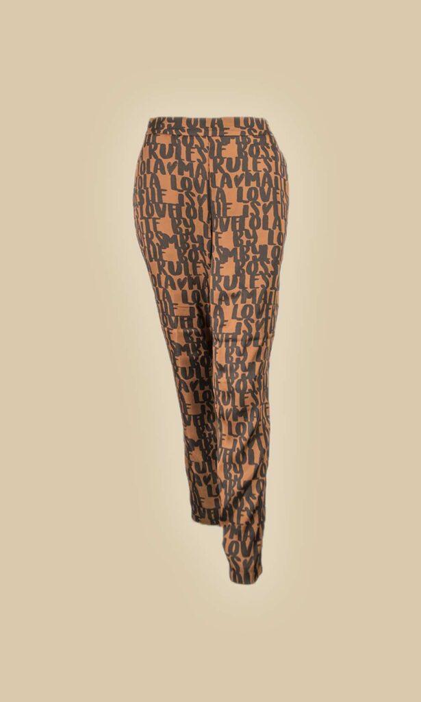 pantalón print letras moda mujer