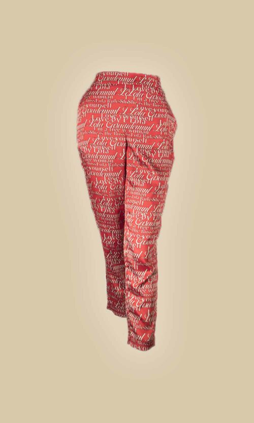 pantalon print letras moda mujer