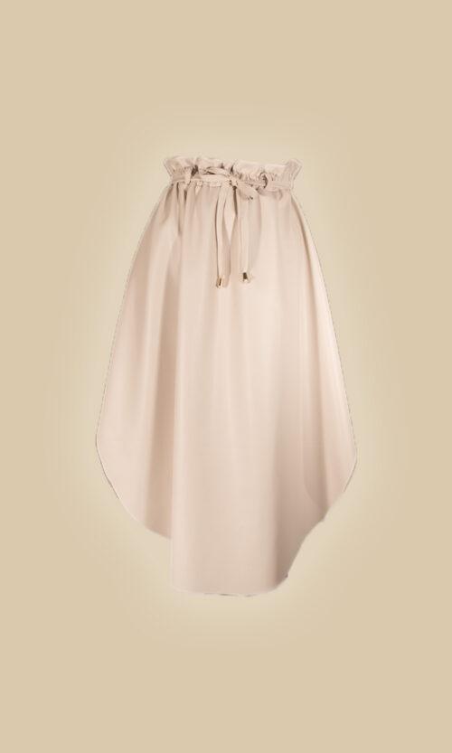 falda eco piel moda mujer