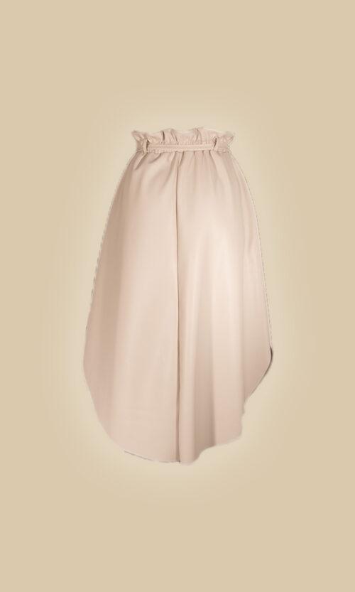 trasera falda eco piel moda mujer