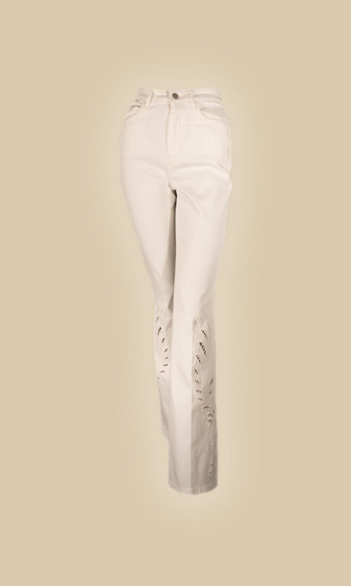 pantalon troquelado moda mujer